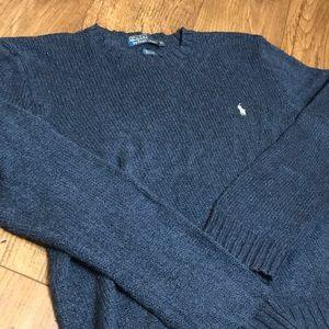Polo Ralph Lauren Navy Sweater XL Cotton/linen